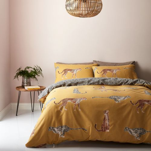 Catherine Lansfield Cheetah Ochre Bedding Set